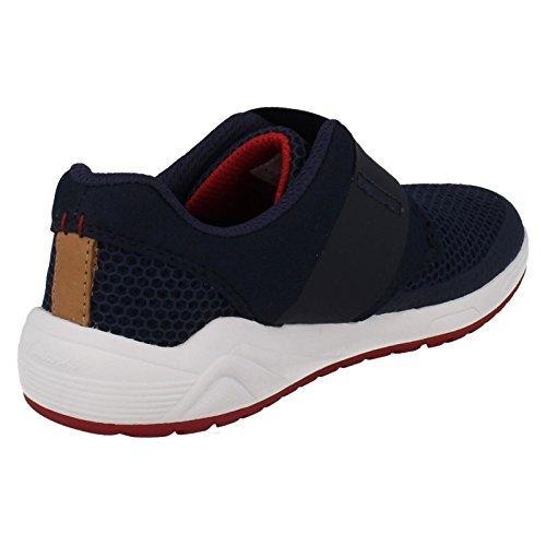 Niños Clarks Inf Marino Zapatillas Frisby Ace Para Azul qPP4Xr