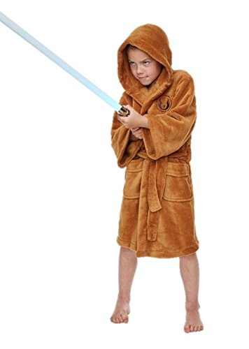 Childrens Boys Star Wars Jedi Robe Soft Fleece Dressing Gown Bathrobe