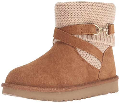 UGG Women's W Purl Strap Boot Fashion, Chestnut, 8 M US