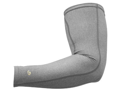 Phiten Compression Single Arm Sleeve, Heather Grey, Large
