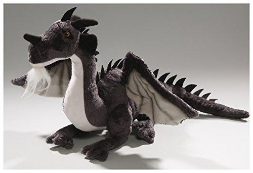 Carl Dick Dragon Sitting Black, 14 inches, 30cm, Plush Toy, Soft Toy, Stuffed Animal 2626004