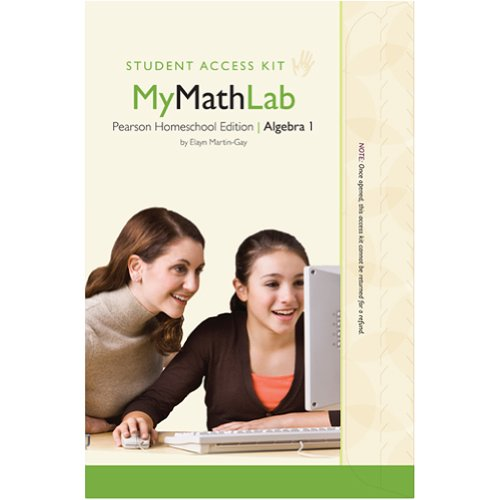 MyMathLab for Homeschool Algebra I - Student/Child Access