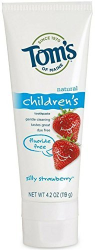 - Tom's of Maine Fluoride Free Children's Toothpaste, Silly Strawberry, 4.20 oz by Tom's of Maine
