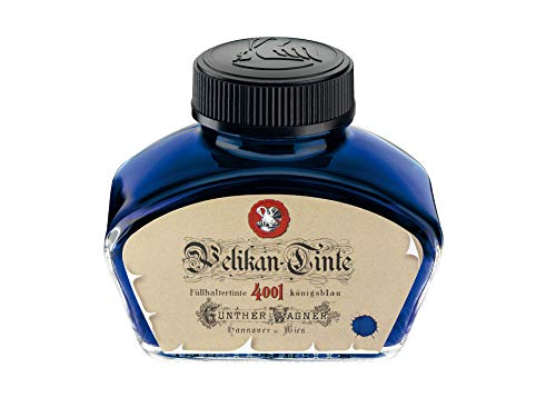 Pelikan 4001 Historical Bottled Ink for Fountain Pens, Royal Blue, 62.5ml, 1 Each (340299)