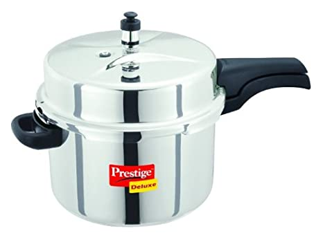 Prestige Deluxe Stainless Steel Cooker, 8 Litres Pressure Cookers at amazon