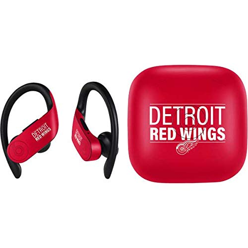 Skinit Detroit Red Wings PowerBeats Pro Skin - Officially Licensed NHL Audio Decal - Ultra Thin, Lightweight Vinyl Decal Protection