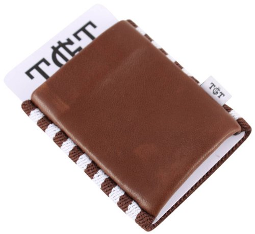 Cowman Tight TGT Wallets Elastic Holder 2 Card White Brown 0 by FOpwp