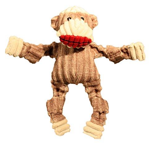 HuggleHounds Plush Corduroy Durable Sock Monkey Knottie Dog Toy, -