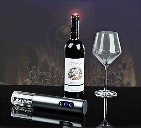 Sacacorchos Electrico - abrebotellas electrico De pilas con cortador de papel de aluminio, aireador para verter vino y conservador de vino al vacío, sacacorchos automatico abridor de vino electrico