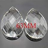 Kamas tools - 50pcs/lot 63mm Crystal chandelier pendants,crystal suncatcher hanging prism parts for home & Wedding decoration