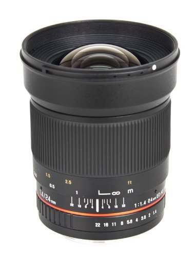 Bower Ultra-Fast Wide-Angle 24mm Focus 1 4 Lens for Nikon (SLY2414N)の商品画像