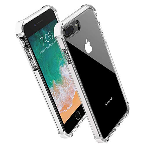 - Noii for iPhone 8 Plus case iPhone 7 Plus case, Clear Hybrid Drop Protection case,[TPE Super Rubber Bumper] Shockproof case,Upgraded Reinforced Edges Technology,Heavy Duty Protective Cover -White