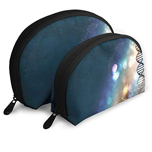 DNA Helix Ties Science Neckties Portable Bags Clutch Pouch Storage Bag Coin Purse Travel Bag Handbag Women's Bag One Big One Small Cosmetic - Helix Clutch