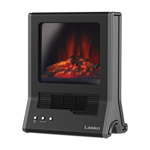 Space Saving Design Ultra Ceramic Portable Fireplace 1500W Black Heater Ceramic Heaters