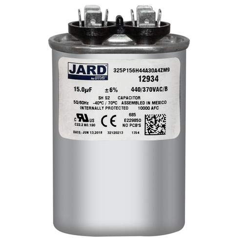 Mars Replacement 440V Oval Run Capacitor 15 Mfd 12934 By Packard