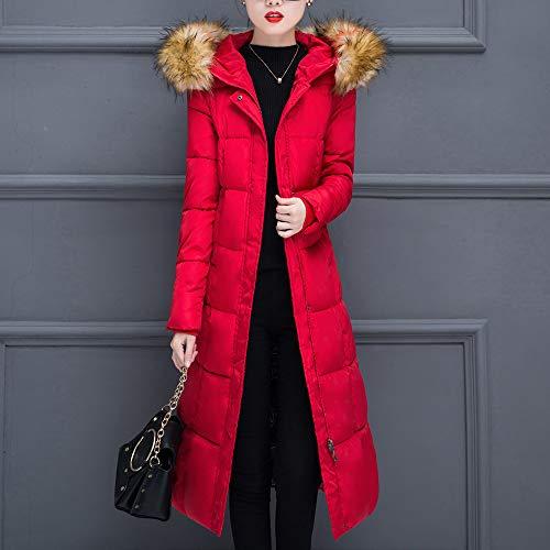 AIMTOPPY Women Winter Warm Coat Faux Fur Hooded Thick Warm Slim Jacket Long Overcoat