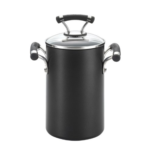 Circulon Contempo Hard Anodized Nonstick 3-1/2-Quart Covered Asparagus Pot with Steamer Basket ()