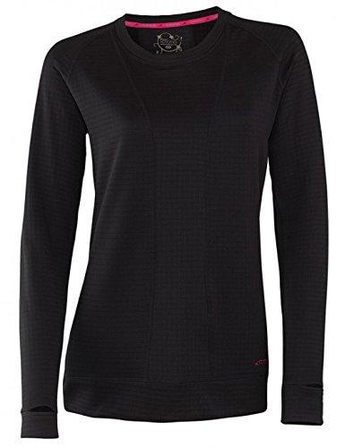 Terramar Women's Ecolator Performance Long Sleeve Scoop W8536 Black MD