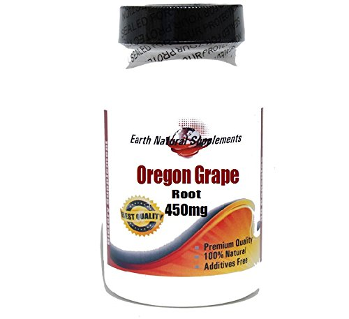 Oregon Grape Root 450mg * 100 Caps 100 % Natural - by EarhNaturalSupplements