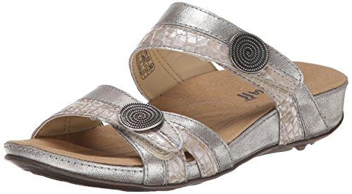 - Romika Women's Fidschi 22 Flat Sandal, Platino Kombi, 36 EU/5-5.5 M US