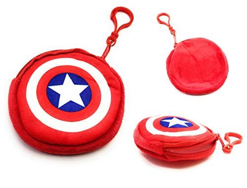 HEARTLINE Captain America Earphone Pouch Multi Purpose Pocket Storage Case for Headphone, Pen Drives, Memory Card, Data Cable