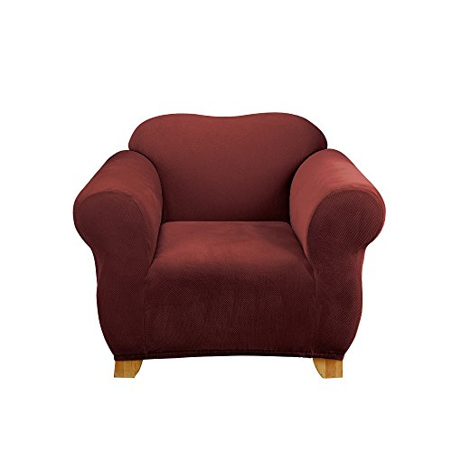 - SureFit SF44546 Stretch Pixel Corduroy Box Cushion Chair, Burgundy