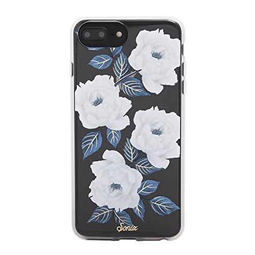 Sonix Sapphire Bloom (white, blue flowers) Cell Phone Case [Military Drop Test Certified] Protective Clear Case for Apple (5.5