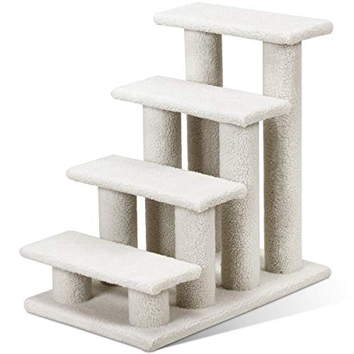 Tangkula Pet Stairs Ramp for Cats and Dogs Cat Climber Kitten Steps (Grey)