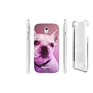 FUNDA CARCASA DIAGONAL DOG PARA HTC DESIRE 500