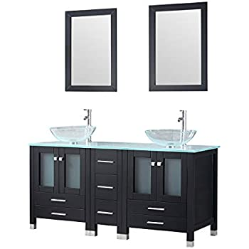 Walcut 60Inch Black Bathroom Vanity and Sink Combo Modern