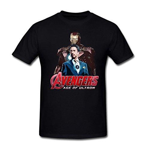 MoonArt Men's Iron Man Tony Stark T-Shirt XXXL Black