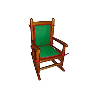 Baby Doll Bedding Holiday Solid Reversible Junior Rocking Chair Pad, Green/Red