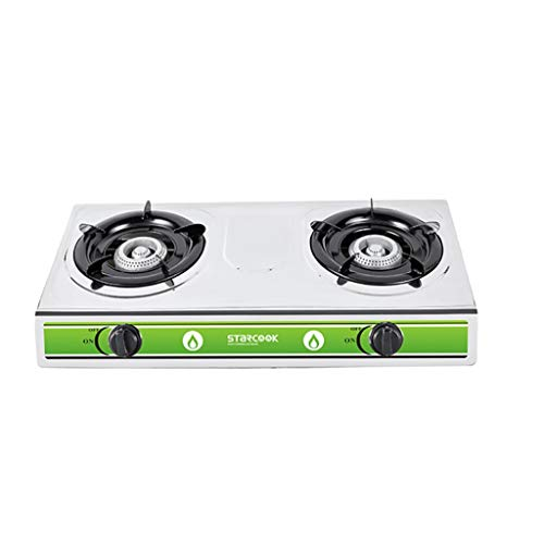 Natural Gas Cooktops,Stainless Steel Kitchen Home Desktop Rectangles Double Oven Multi-Function Gas (Best Double Oven Freestanding Ga Range)