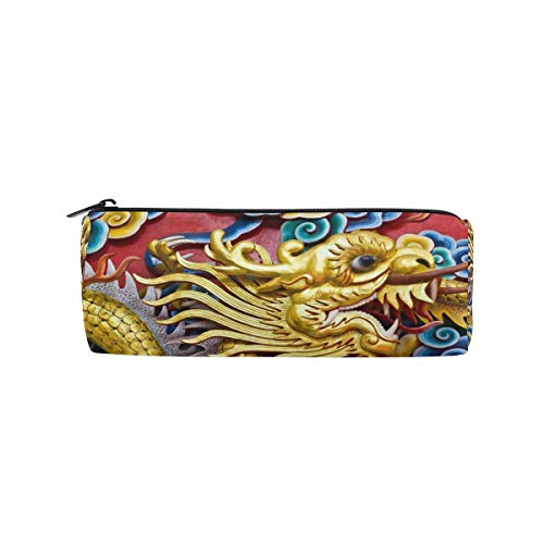 - Customize Personalized Pen Case Traditional Chinese Dragon Drum Pencil Holders Large Capacity Pouch Makeup Cosmetic Boxes School Office Travel Bag