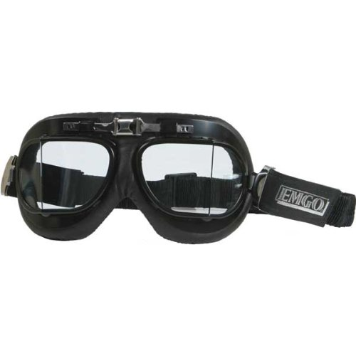 Emgo Red Baron Adult Street Motorcycle Goggles Eyewear - One Size Fits All Emgo Goggles