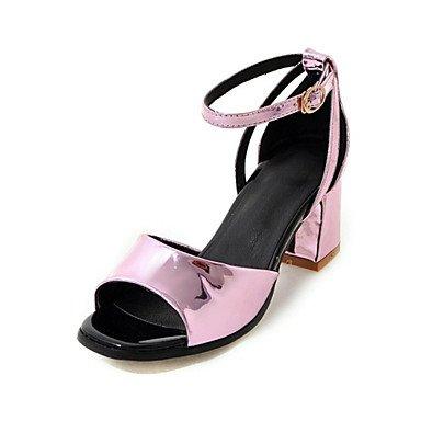 y Vestido Fiesta LvYuan Confort Purpurina Robusto Informal Mujer Boda Materiales y Innovador Trabajo Pink Oficina Tacón Sandalias Noche 7H7Ovpw