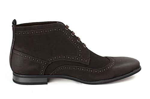 Hombre Botines Casuales Moda Chelsea Zapatos Antelina Inteligentes RU 6 7 8 9 10 11 Café