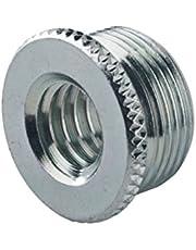 K&M Stands 217-Zinc Internal Thread Adapter 5/8 Male to 3/8 Female
