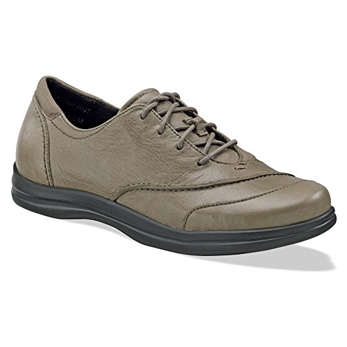 Apex Womens Karen Oxford Lace Up Taupe lmBtJjnZ
