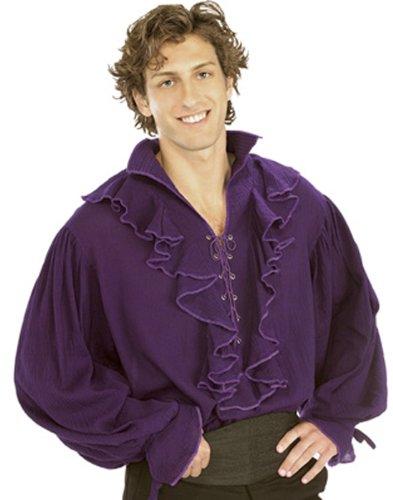 (Rubie's Pirates of the Seven Seas Purple Linen Pirate Shirt - Adult Standard Costume)