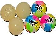 Mylec Fun Balls (6 Pack), Glow/Multi Tye Dye