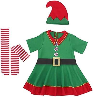 TENDYCOCO - Disfraz de Navidad para niños, Color Verde, diseño de ...