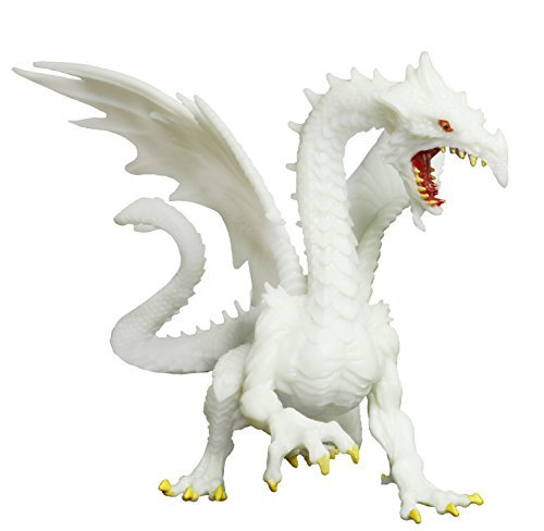 Safari Ltd Glow-in-the-Dark Snow Dragon Realistic Hand Painted Toy Figurine for Ages 3 and Up