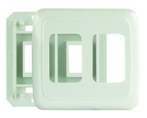 JR Products 12115 Double -White Switch Base and Face Plate