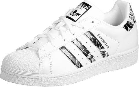 adidas Superstar W, Zapatillas Para Mujer blanco negro