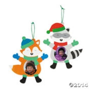 Amazon.com: Fun Express Winter Wonderland Picture Frame Foam Craft ...