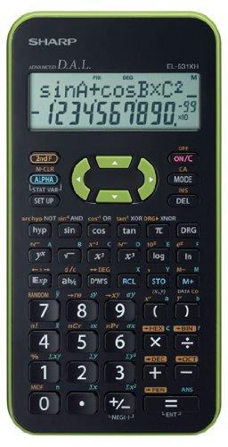 EL-531 XH-GR, wissenschaftlicher Schulrechner, 2-zeilig, Farbe grün, SEK I&II, 272 Funktionen, Batterie