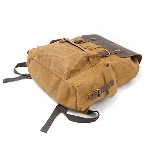 Viaggio DCRYWRX Impermeabile Da Zaino In Laptop Tela Black Cerata Zaino Armygreen Vintage Zaino Pelle Zaino Per In Scuola 7Pqr7