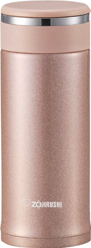 Zojirushi SM-JTE34PX Stainless Steel Travel Mug with Tea Leaf Filter, 11-Ounce/0.34-Liter, Pink Champagne