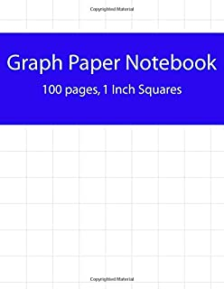 graph paper notebook 1 inch squares blank graphing paper graph